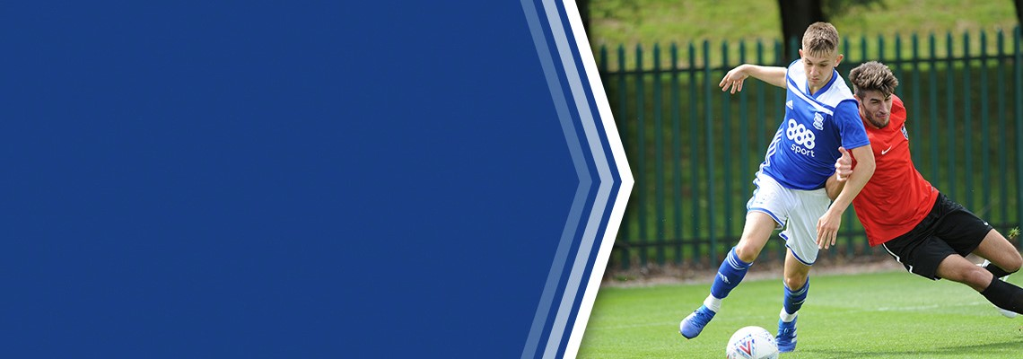 George Baker in action for Blues Under-23s