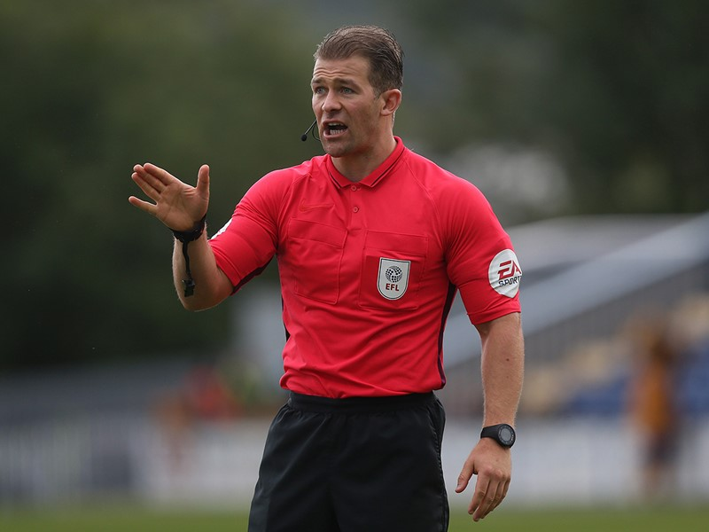 Referee Anthony Backhouse.