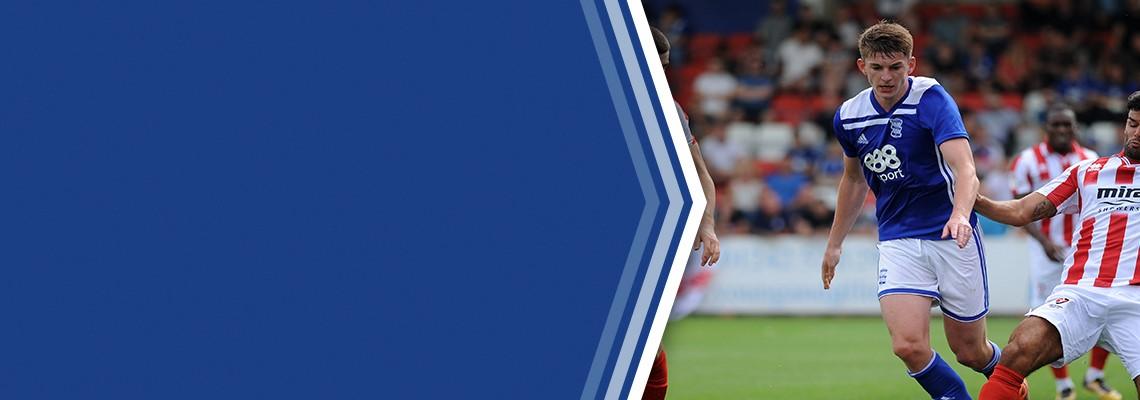 Steve Seddon in action for Blues during the pre-season friendly against Cheltenham Town.