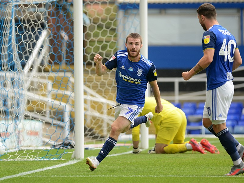 Dan Crowley celebrates his goal against Hull.