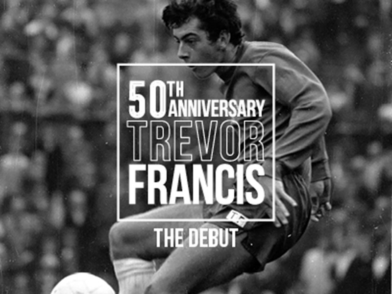 Trevor  Francis pictured during his early First Team days at St. Andrew's