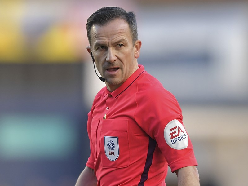 Referee Keith Stroud.