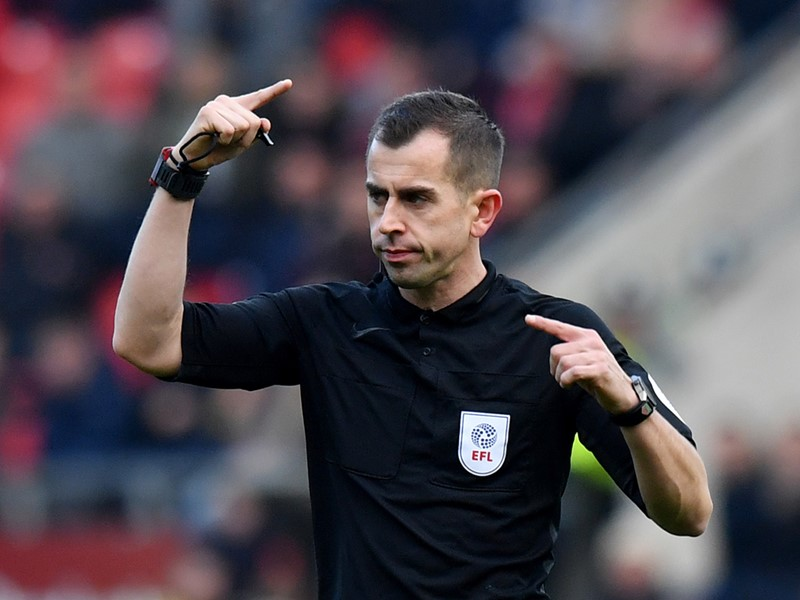 Referee Peter Bankes.