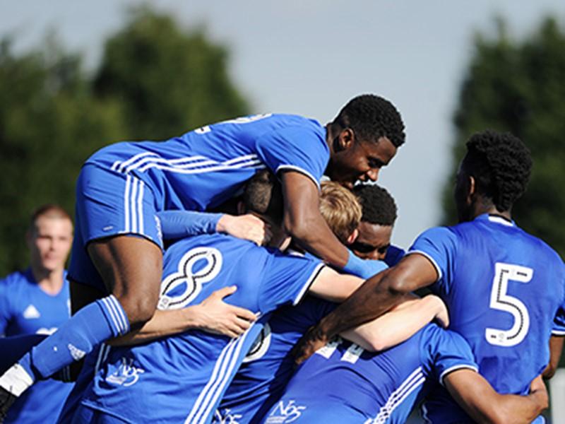Blues Under-23s celebrate a goal