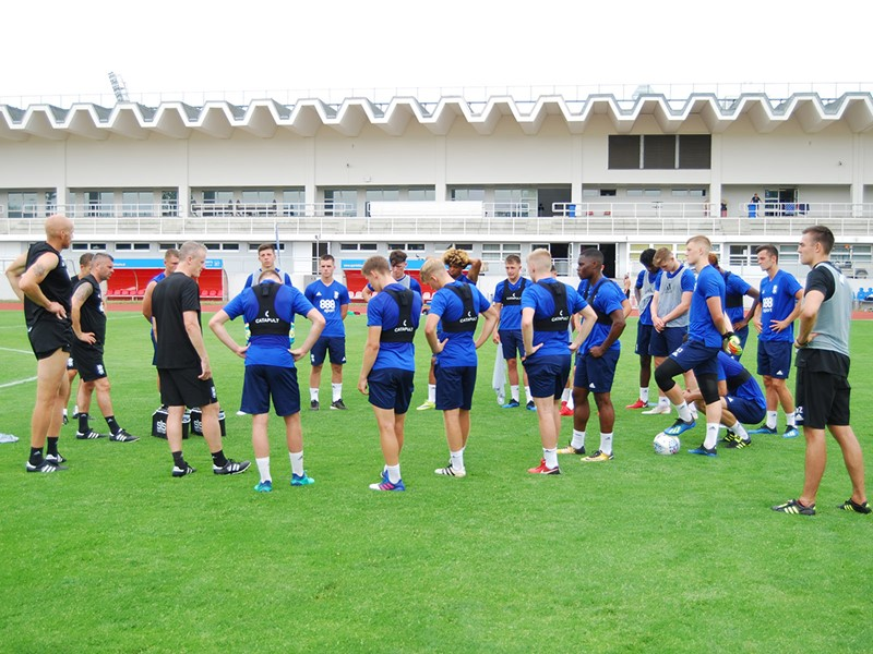 Richard Beale and the Blues Under-23s squad
