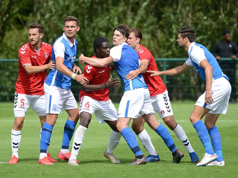 Blues in action against The Addicks on Saturday.