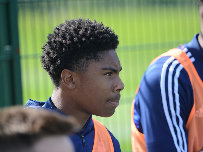 Blues goalscorer Amari Miller.