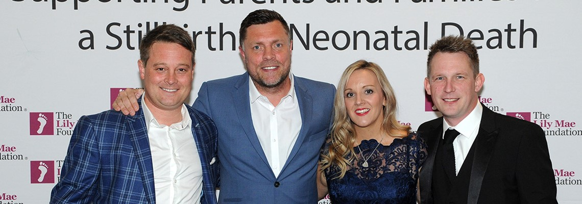Founders Amy and Ryan Jackson with Trustee Dean Lomas and Geoff Horsfield.