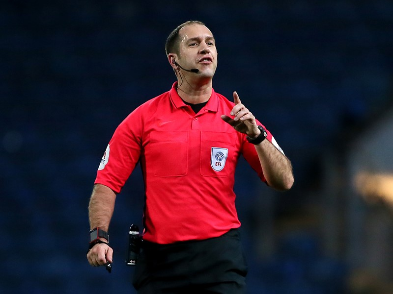 Referee Jeremy Simpson.