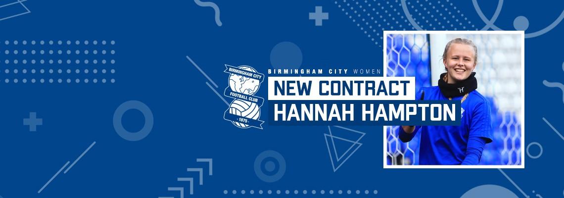 Hannah Hampton signs new deal