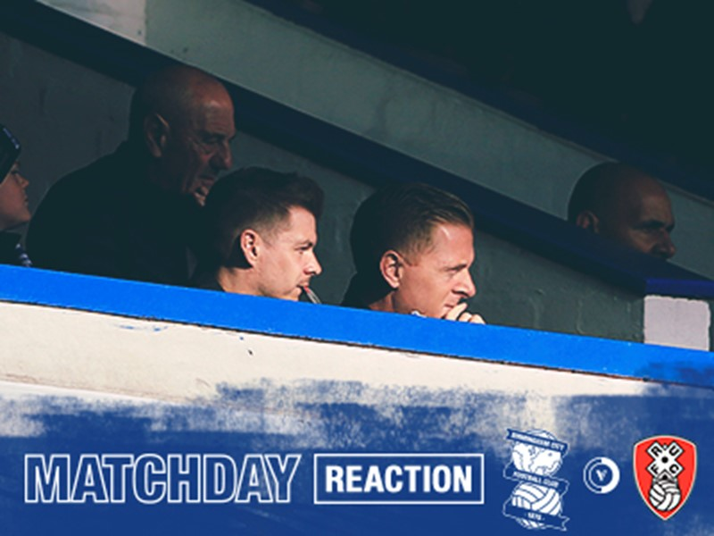 Garry Monk watching from the stand during today's game.