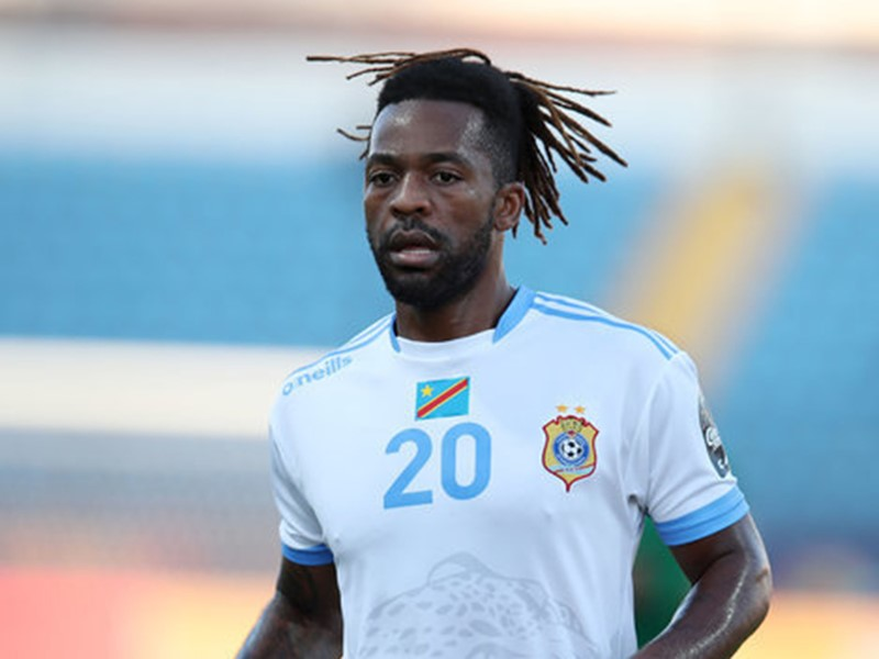 Jacques Maghoma in action for DR Congo previously.