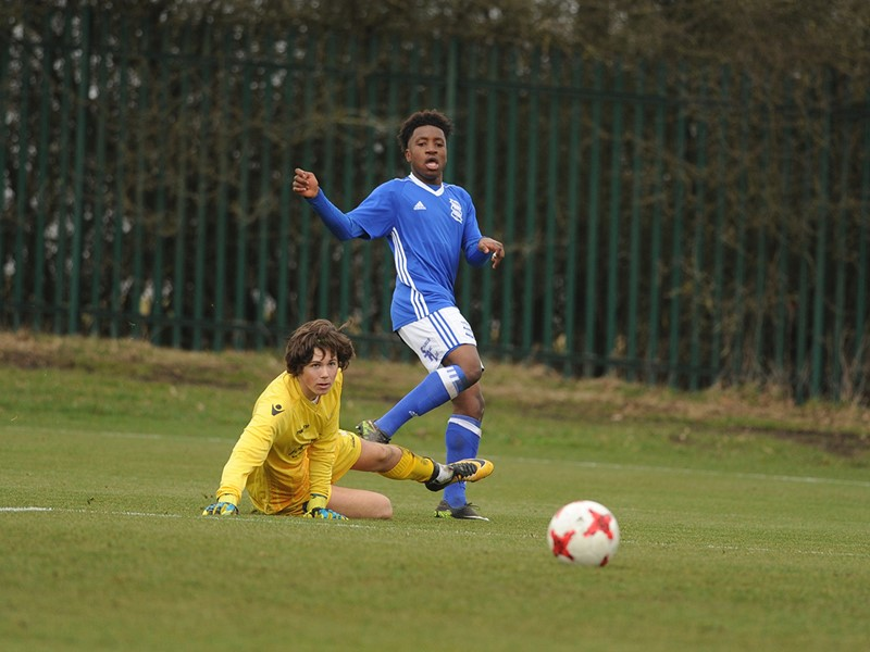 Christ Mayuba scores Blues sixth goal.