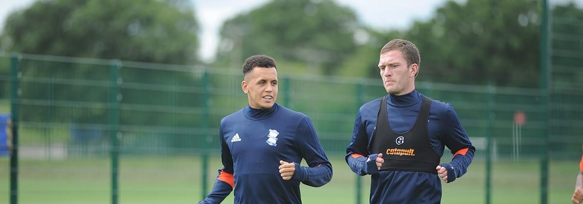 Ravel Morrison training alongside Craig Gardner at Wast Hills.