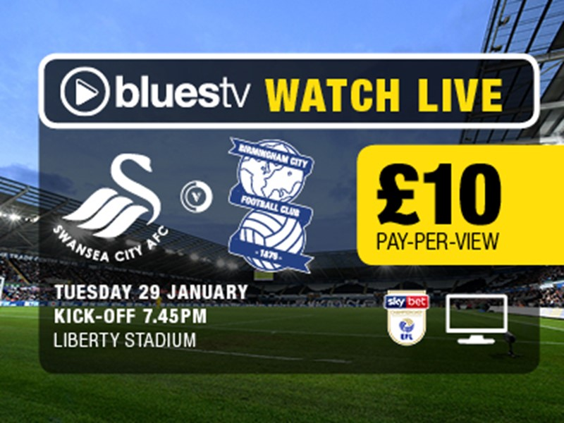 Watch Swansea v Blues LIVE on BluesTV