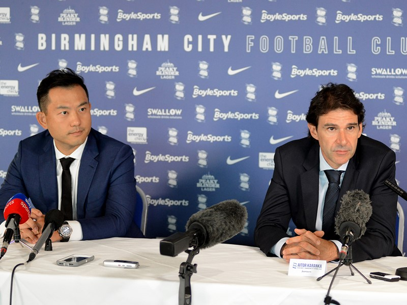 CEO Dong Ren and Head Coach Aitor Karanka