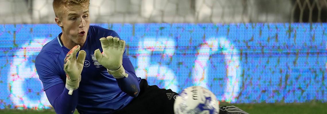 Blues goalkeeper Connal Trueman