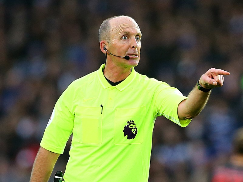 Referee Mike Dean.