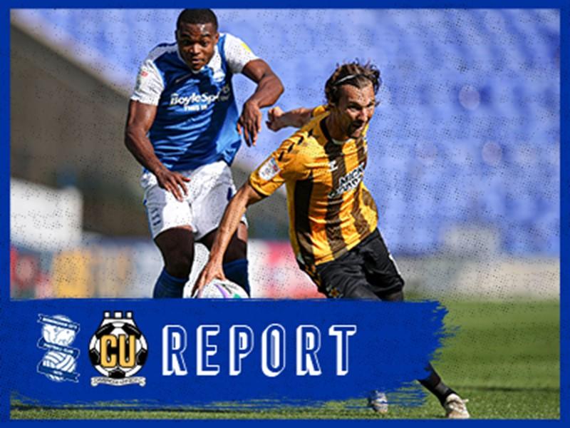 Teenage Blues striker Adan George in action against the U's
