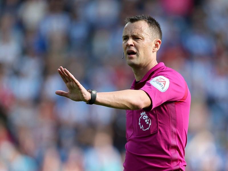 Referee Stuart Attwell.