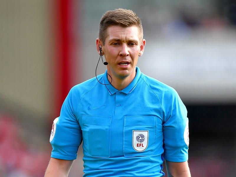Referee Matthew Donohue.