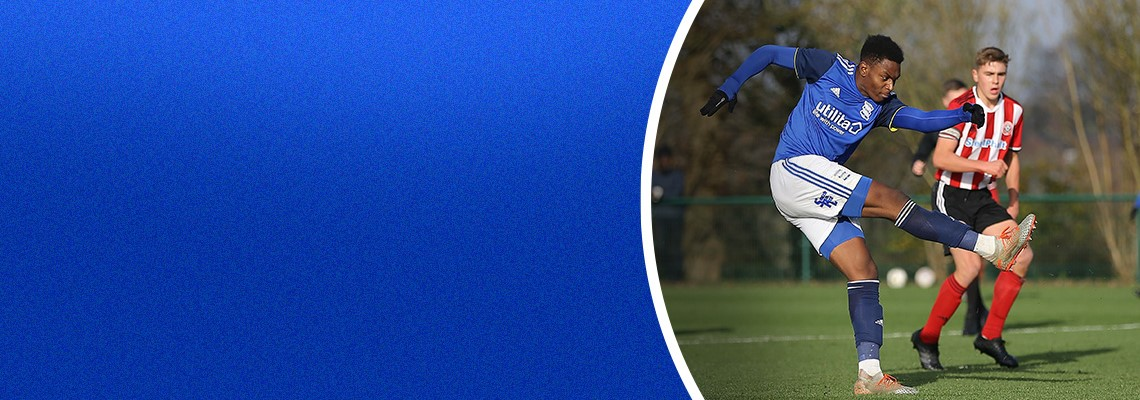 Josh Williams in action for Blues Under-18s
