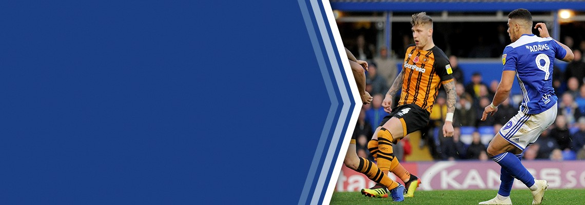 Che Adams fires home the second of his three goals.