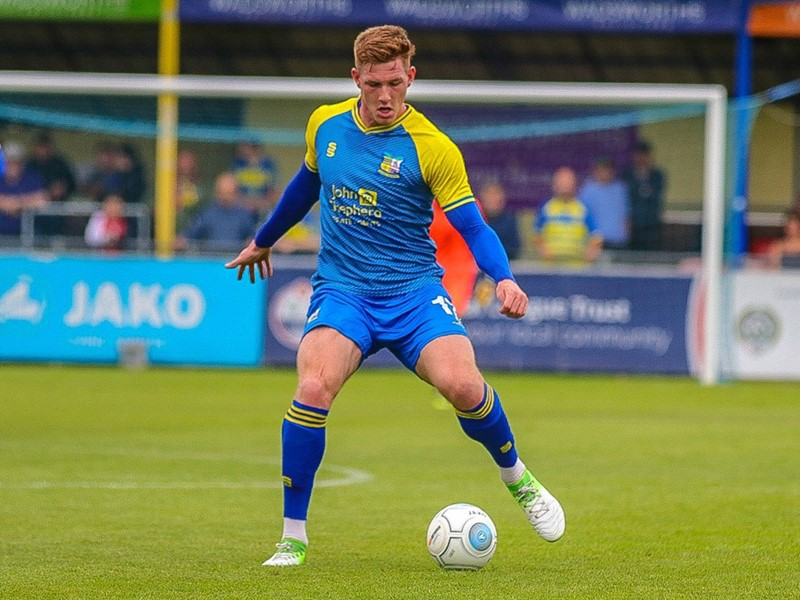 Luke Maxwell in action for Solihull Moors.