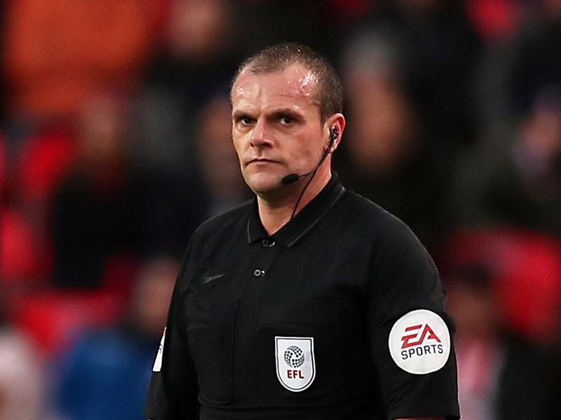 Referee Geoff Eltringham.
