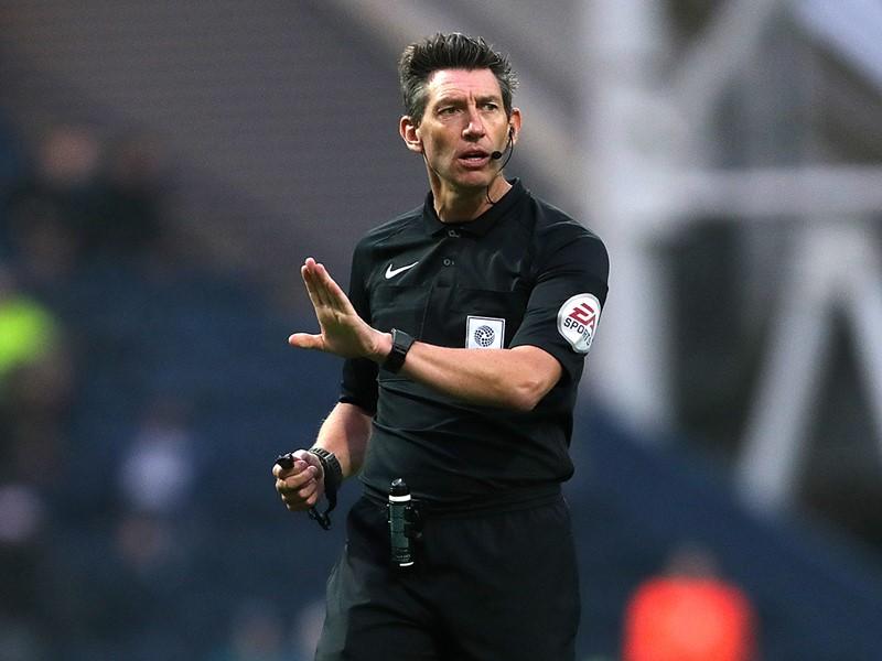 Referee Lee Probert.