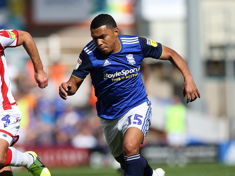 Jefferson Montero in action for Blues against Stoke City.