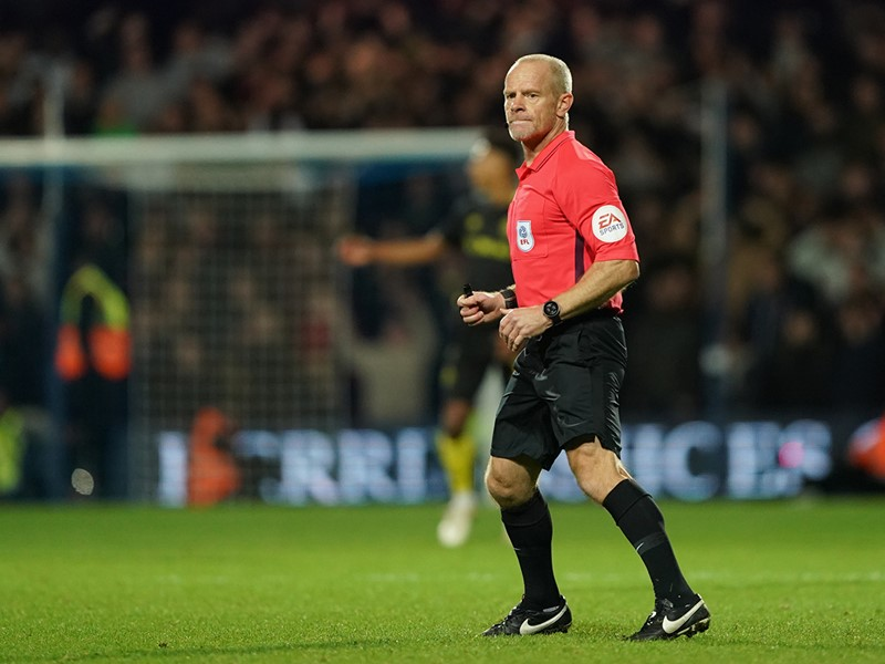 Referee Andy Woolmer.