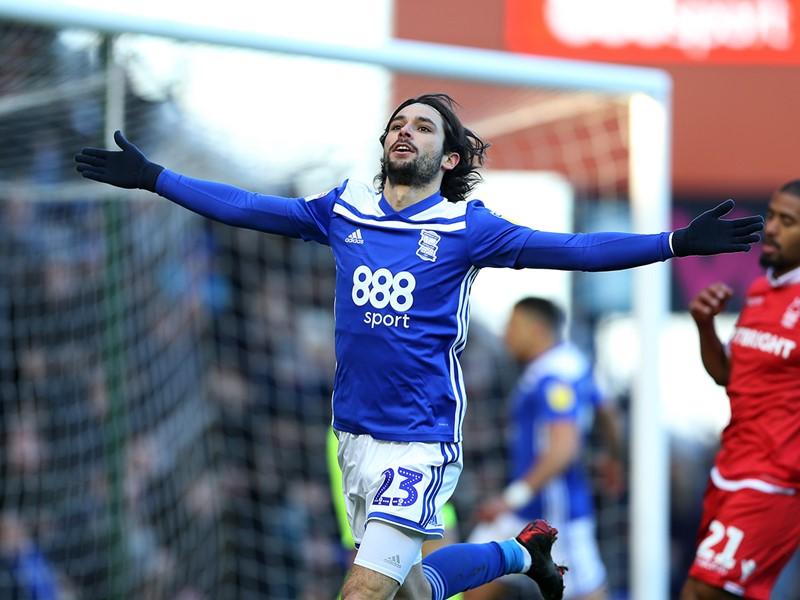 Jota celebrates his goal against Forest.