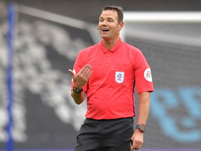 Referee James Linington.