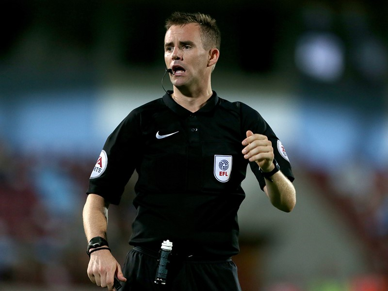 Referee Ross Joyce.