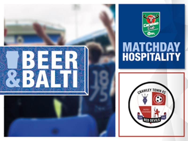 Blues v Crawley Town hospitality packages