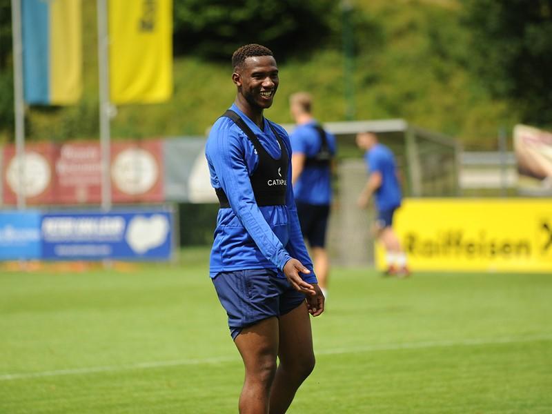 Viv Solomon-Otabor during pre-season training in Austria.