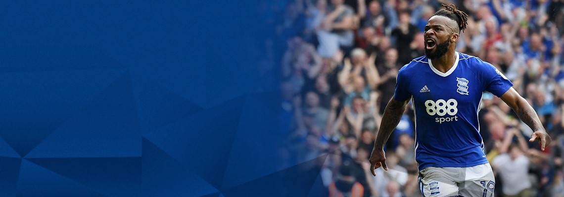 Jacques Maghoma celebrates after scoring Blues' winning goal against the Blades.