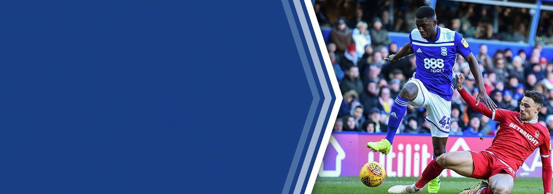 Wes Harding in action against Nottingham Forest