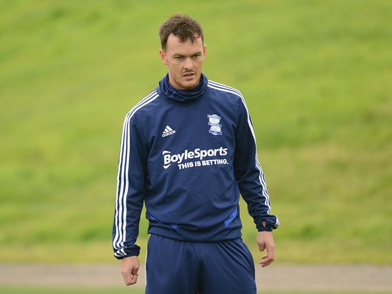 Josh McEachran in training with Blues earlier today.