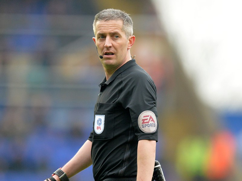 Referee Darren Bond.