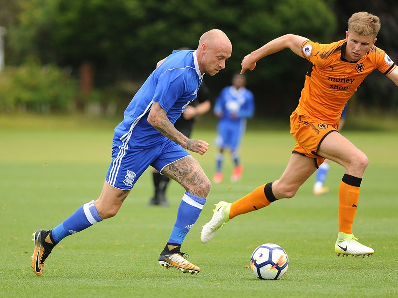 David Cotterill in action against Wolves