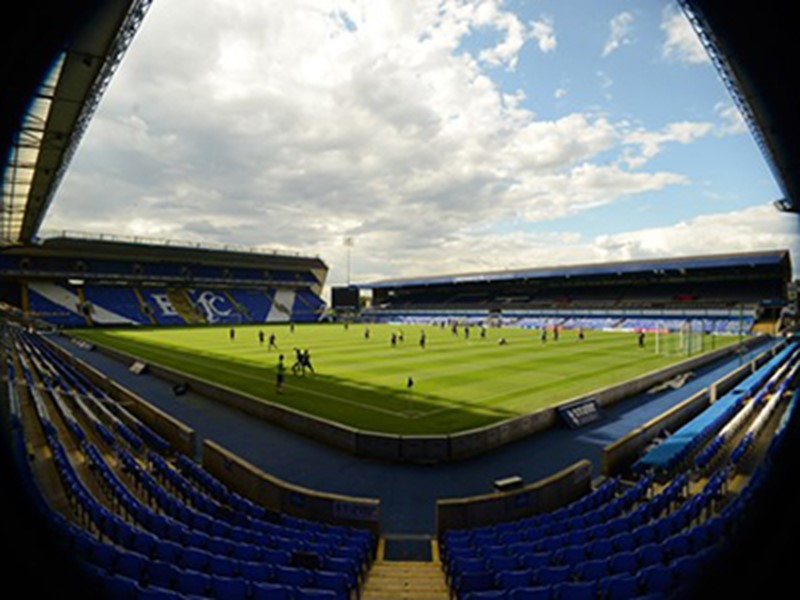 A fan-free St. Andrew's during the recent friendly against Wolves.
