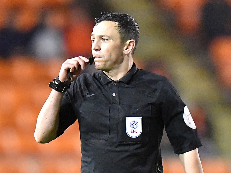 Referee Tony Harrington.