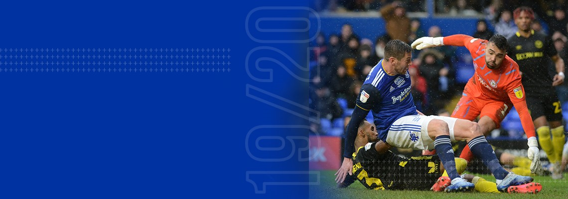 Lukas Jutkiewicz gives Blues the lead against The Bees.