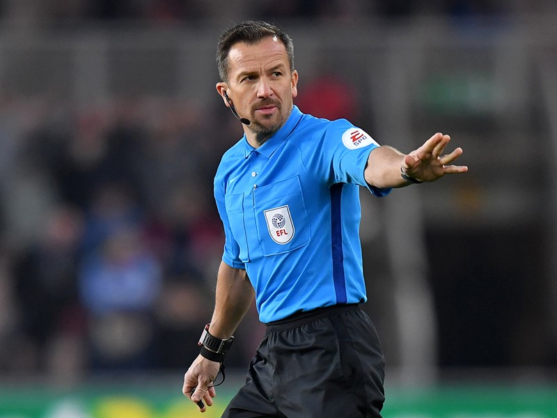 Referee Keith Stroud.