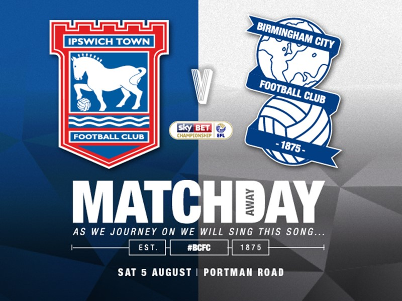 Ipswich Town v Blues ticket details