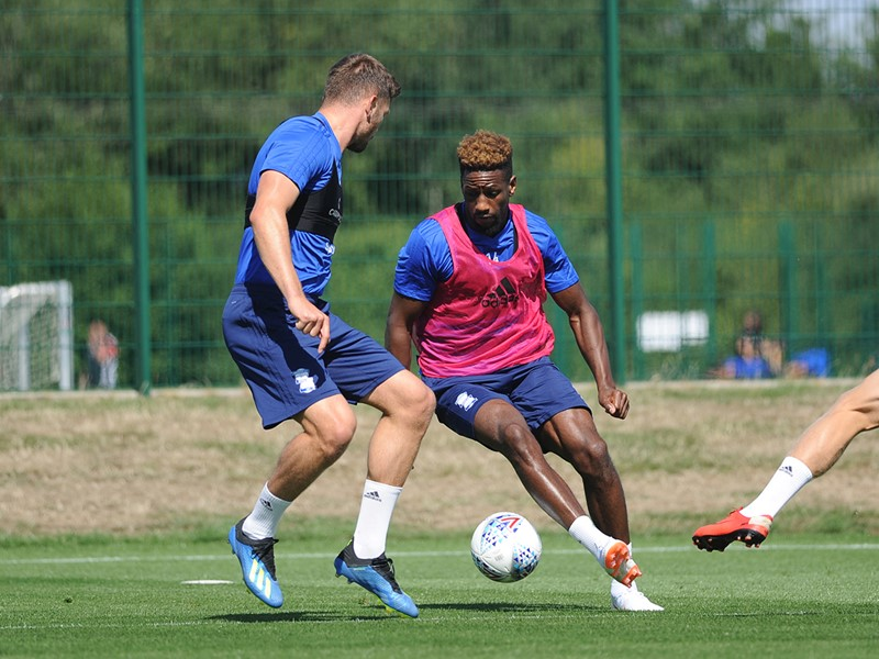 Omar Bogle training with his new teammates this week.