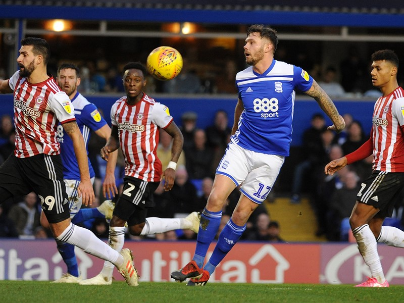 Harlee Dean in action against Brentford.