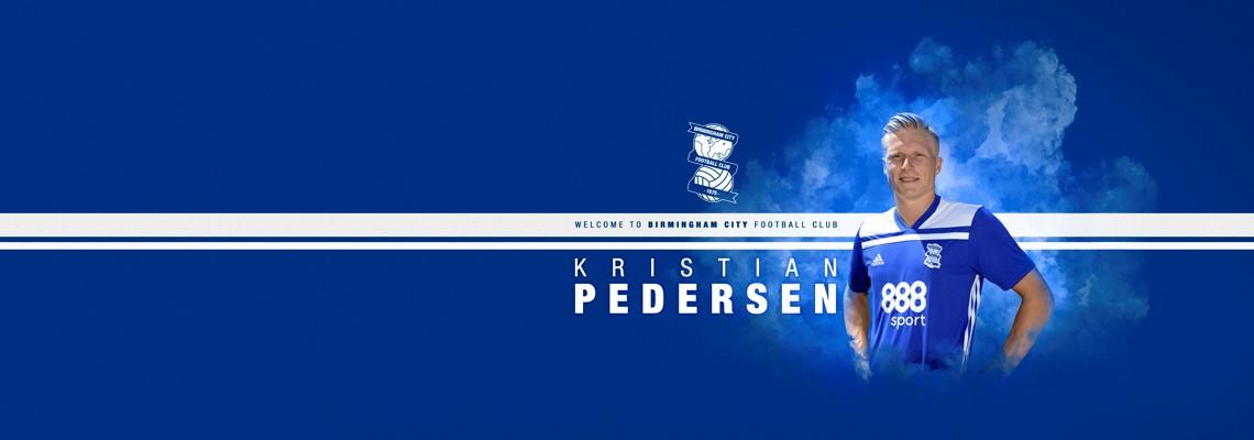 New signing Kristian Pedersen.